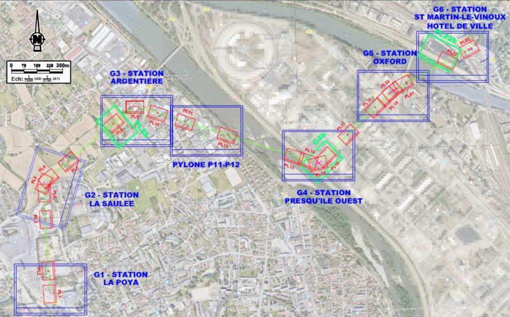 Projet de transport pas câble en isère réseaux enterrés géolocalisation